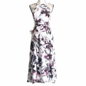 Fame and Partners Floral Open Back Midi Dress 10